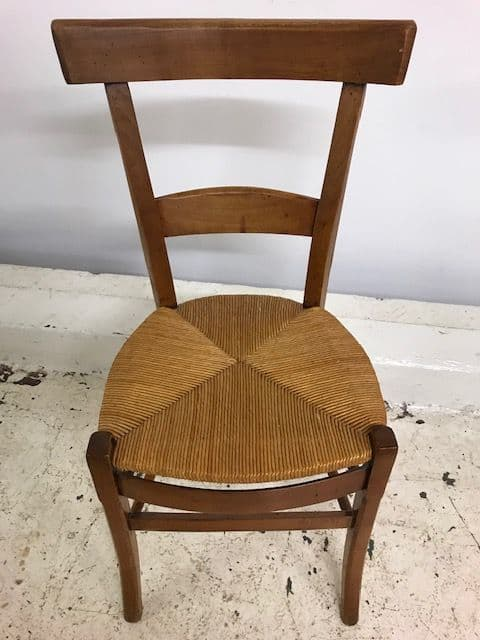 Set Four Vintage French Dining Chairs - ca82